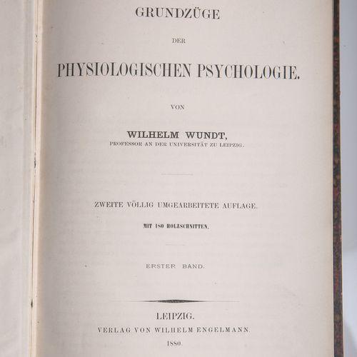 """Wundt, Wilhelm, """"Grundzüge der physiologischen Psychologie"""", Vol. 1 m. 180 gravu…"""