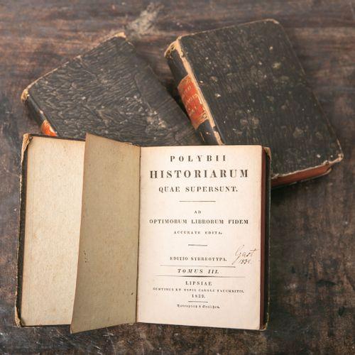 """""""Polybii Historiarum quae supersunt"""", editio stereotypa, vol. 1 à 3, Lipsiae 182…"""