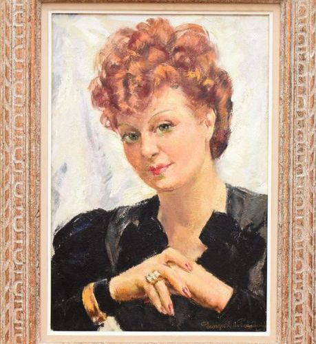 Григорий Пожидаев (Георгий Пожедаев) Женский портрет (Дама с причёской) Масло,…