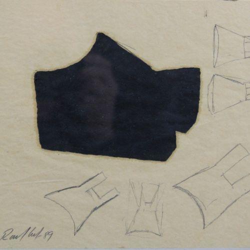 Ingo Ronkholz (deutsch, geb. 1953), abstrakte Komposition, 1989, Mischtechnik In…