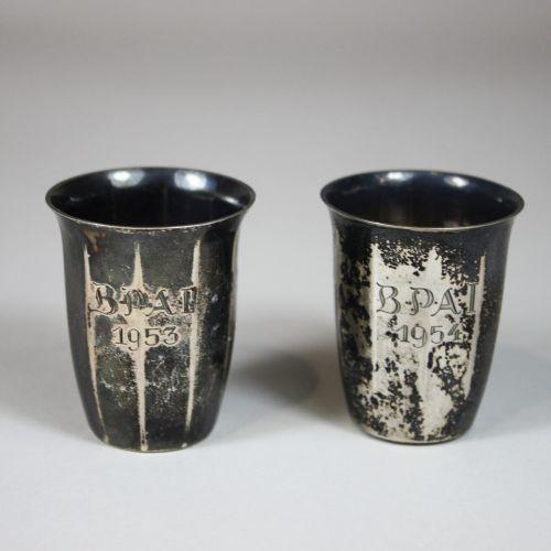 Paar Silber Becher, Wilkens und Söhne Paire de gobelets en argent, Wilkens and S…