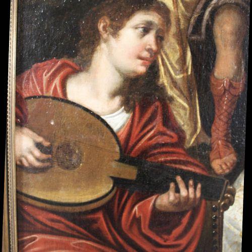 Flämische Schule, Anonymer Maler des Barock, 17. Jh., Das Konzert, Öl a. Leinwan…
