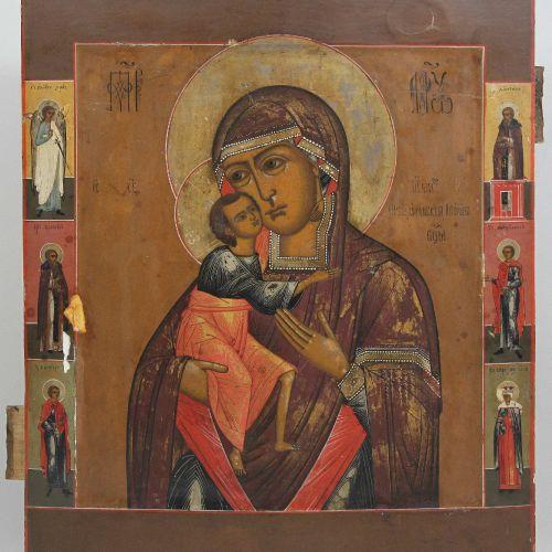 Gottesmutter Fedorowskaja, Ikone, Russland 18. Jh. Mère de Dieu Fedorovskaya, av…