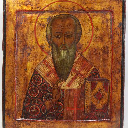 Hl. Nikolaus Bischof von Myra, Ikone, Russland 19. Jh. Saint Nicolas, évêque de …
