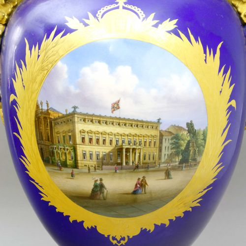 Prunkvase mit Sockel, KPM Berlin, nach 1871 Magnifique vase à pied, KPM Berlin, …