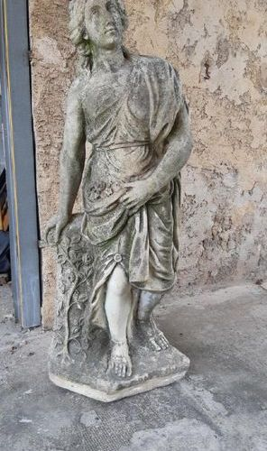 Marble sculpture showing a woman in ancient times  H: 125 cm (accident at the b…
