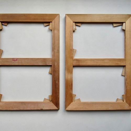 Lot de deux chassis à tableaux en sapin et clefs en hêtre  Etat neuf, jamais ser…