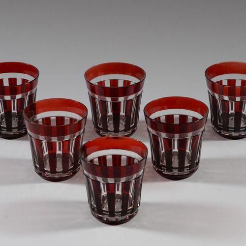 ナチメントメント  六只双色切割水晶杯