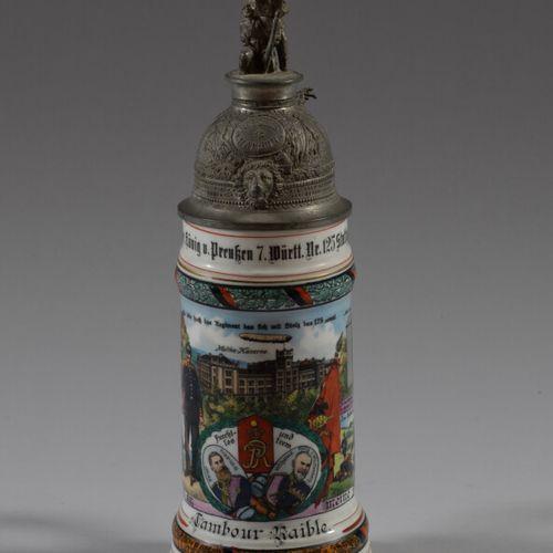 Chope du Réserviste Raible du Régiment d'Infanterie de Stuttgart 1910 12en porce…