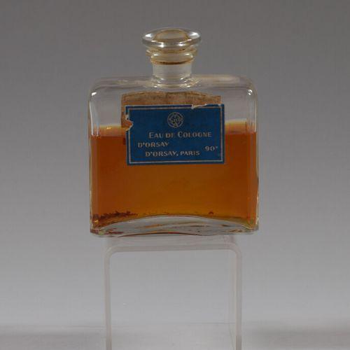 EAU DE COLOGNE D'ORSAY  Flacon en verre avec bouchon.  Haut. 15 cm