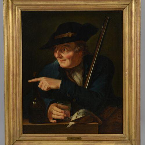 19世纪法国学校  狩猎卫士  布面油画。  60 x 50厘米