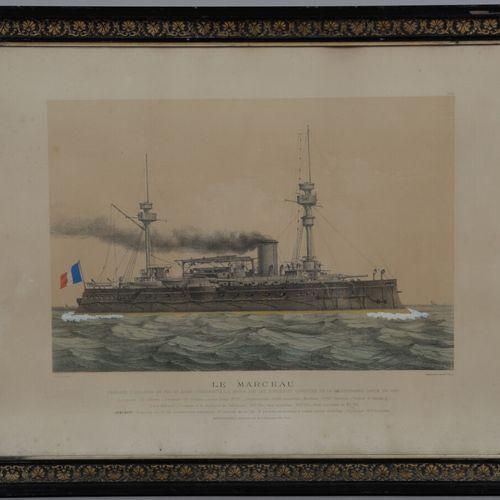 Charles LEDUC (1831 1911)  Le Marceau  Le Hoche  Deux lithographies en couleurs …