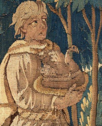 """""""Le banquet de Cléopâtre et César"""" Tapisserie en laine. XVIIIème siècle. 240 x 1…"""