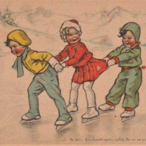 GERMAINE BOURET Album moderne sous emboîtage contenant 102 CPSM, en couleurs, la…