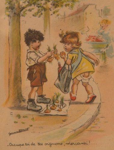 GERMAINE BOURET Album moderne sous emboîtage contenant 127 cartes postales en co…