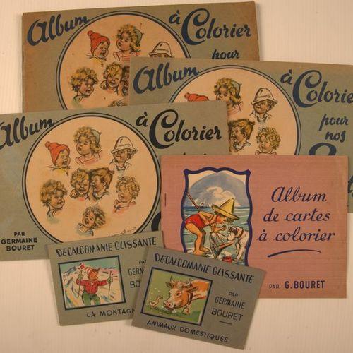 GERMAINE BOURET Album moderne contenant 19 albums à colorier (Ed. Les Flots Bleu…