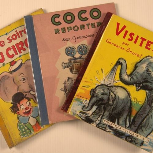 GERMAINE BOURET Coco reporter, Visit to the zoo, An evening at the circus, Littl…