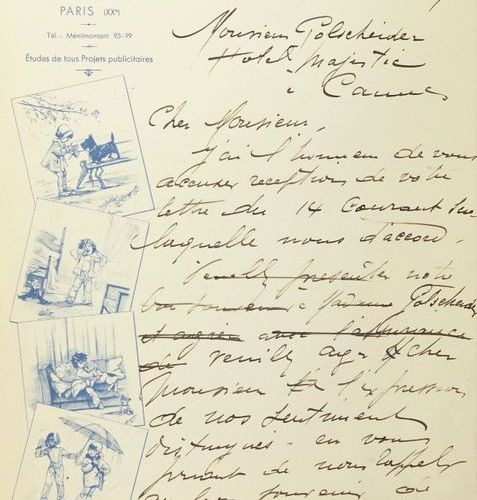 Correspondence of Germaine BOURET with the Austrian ceramic factory Frédéric GOL…