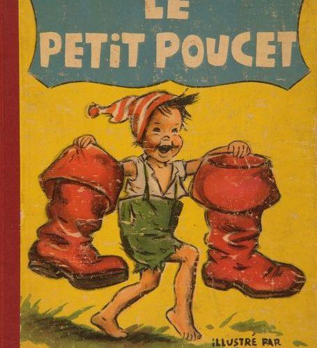 GERMAINE BOURET Réunion de sept albums illustrés d'après des Contes de Charles P…