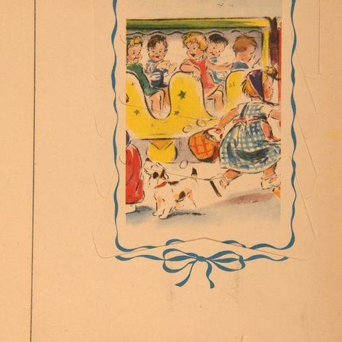 GERMAINE BOURET Le Petit train, Le Petit chaperon rouge.Réunion de 2 albums illu…