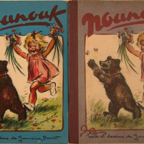GERMAINE BOURET Set of four editions of the album Nounouk at (Arc en Ciel, Paris…