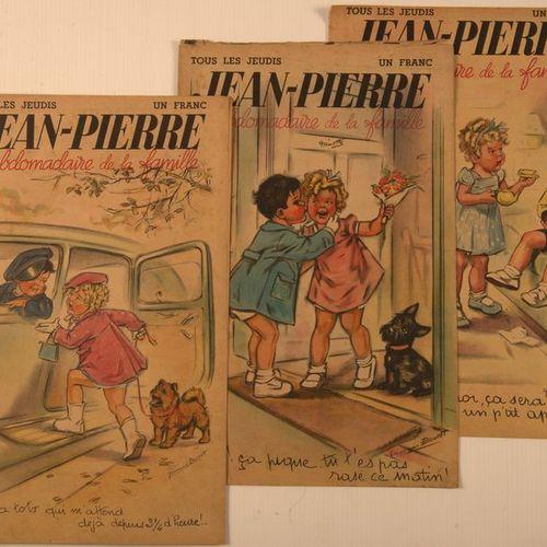 Jean Pierre, l'hebdomadaire de la famille 1938 1940 Rare et bel ensemble de cett…