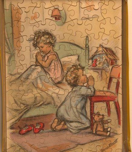Germaine BOURET (d'après). Ces bas de soie, quelle camelote, La Prière. Réunion …