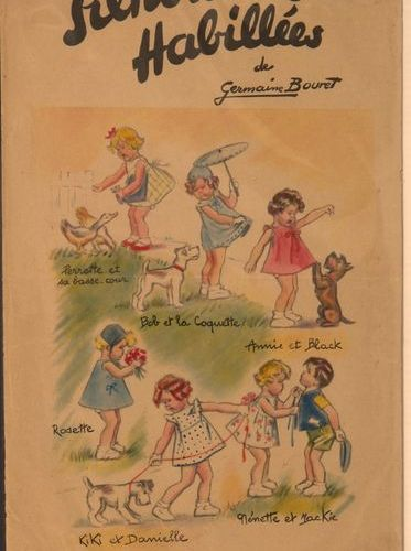 "Germaine BOURET ( d'après). Rare set of 27 ""Dressed silhouettes"". Figurines to b…"