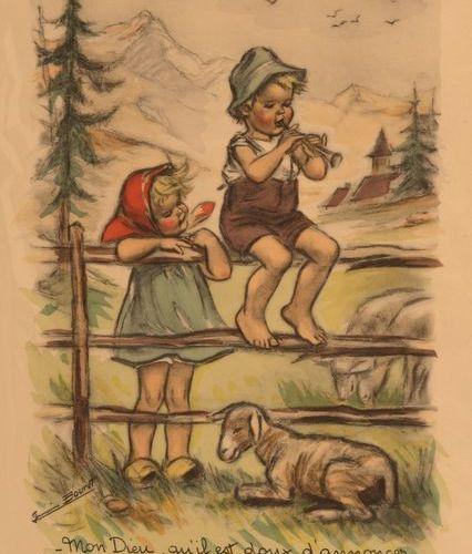 GERMAINE BOURET Y s'ont dans les vignes les moineaux !, La Prière, Mon Dieu, qu'…