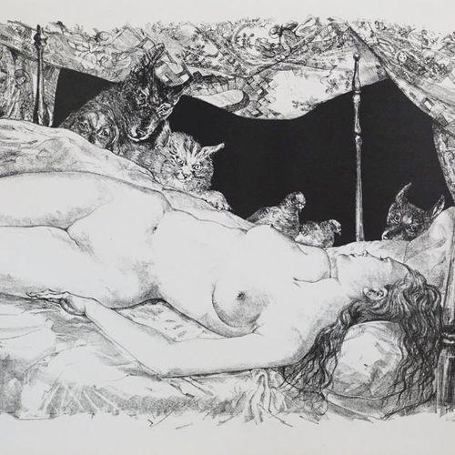 Tsuguharu Leonard FOUJITA (1886 1968). The dream, 1947. Lithography on Arches. S…