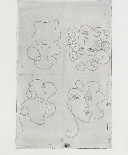 Henri matisse (1869 1954). Project for Artine, 1948. Etching, test print for fol…