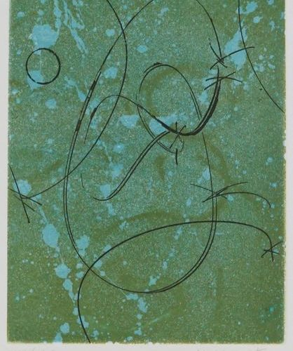 MAX ERNST (1891 1976). Tribute to Marcel Duchamp, 1970. Colour aquatint on vellu…
