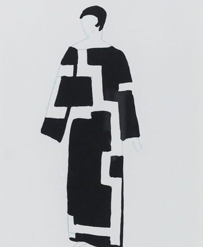 "D'après Sonia DELAUNAY (1885 1979). Robes poems, from a book ""27 tableaux vivant…"