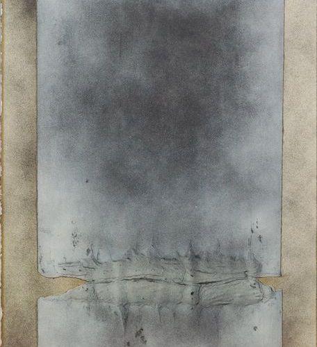 Jean CORTOT (1925 2018). Fusions, 1976. Peinture, collage et matière sur papier.…