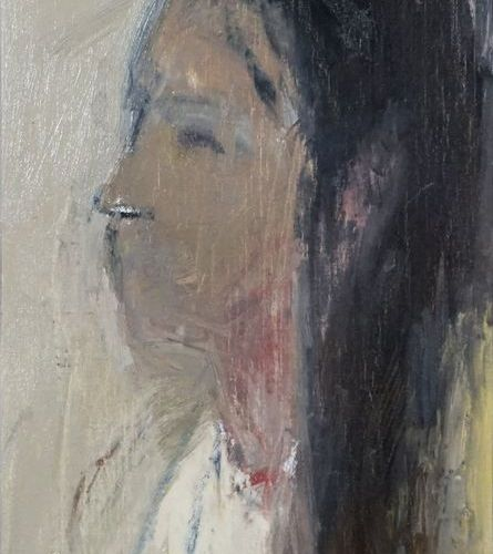 Alejandro AVAKIAN (né en 1959). Portrait, 2003. Oil on canvas. Signed, dated, ti…