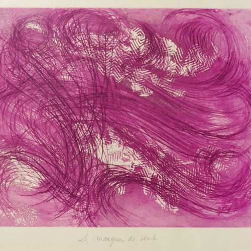 Jean MESSAGIER (1920 1999). Wind eaters, circa 1970. Etching. Signed lower right…
