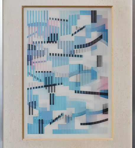 Yaacov AGAM (né en 1928). Kinetic composition, 1978. Plastic inclusions under Pl…