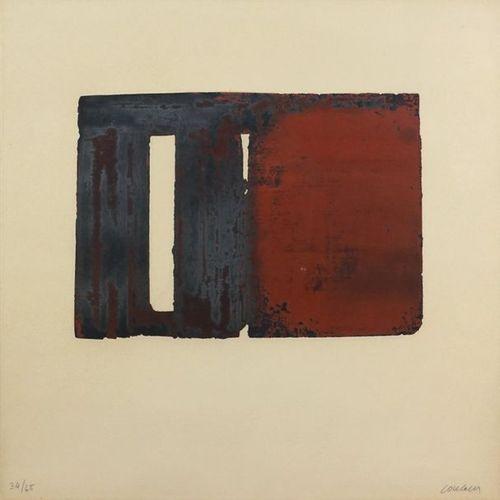 Pierre SOULAGES (né en 1919). Etching XXXVIII, 1980. Colour etching on Arches ve…