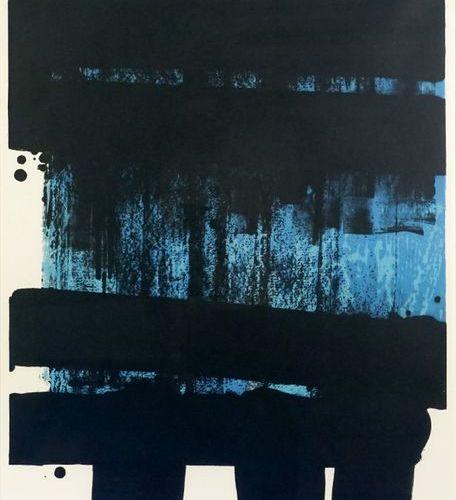 Pierre SOULAGES (né en 1919). Lithograph No. 36, 1974. Two colour lithograph on …