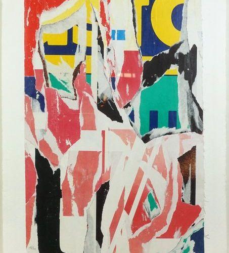 Jacques VILLEGLE (né en 1926). From the series Arrachages, circa 1991. Silkscree…