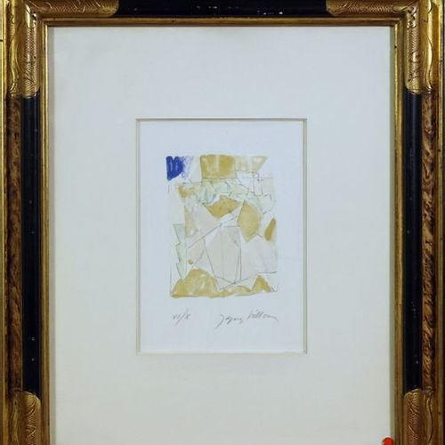 Jacques VILLON (1875 1963). Composition. Lithography on applied China. Signed lo…