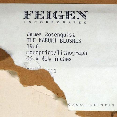 James ROSENQUIST (1933 2017). The Kabuki blushes, 1986. Lithographie couleur et …