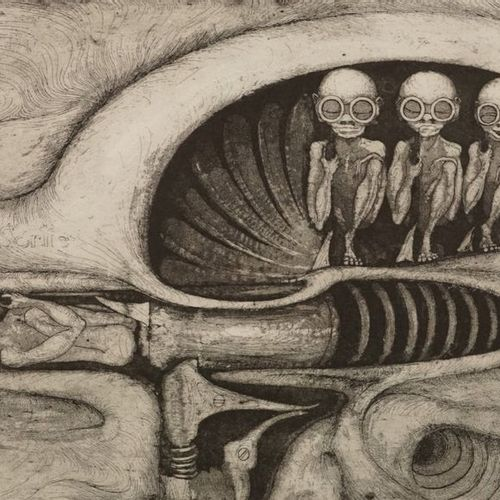 Hans Ruedi GIGER (1940 2014). Fantastic book about biomechanics illustrated with…
