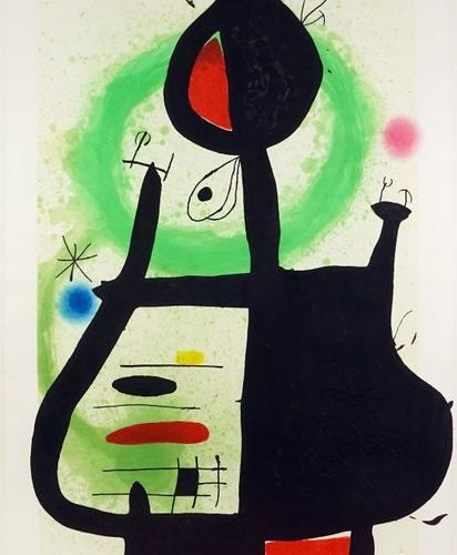 Joan MIRO (1893 1983). The Witch, 1969. Etching, colour aquatint and carborundum…