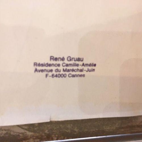 René GRUAU (1909 2004). Rome. Feutre et encre. Non signé. Cachet « René Gruau » …