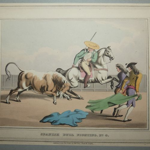 CLARK & DUBOURG. Spanish bull fight. General view of a spanish bull fight. Londo…