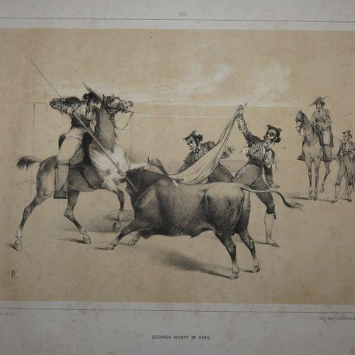 FERRANT (Luis). Collecting 12 suertes de toros. Compuestas y litografiadas por L…
