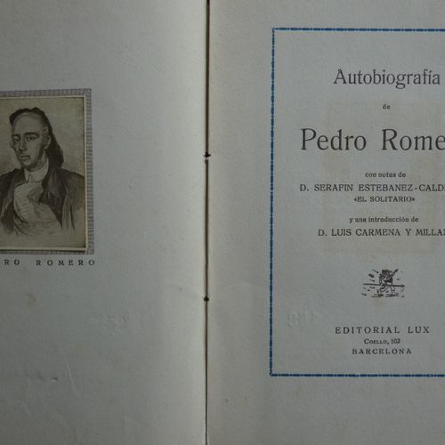 Lot / Livres en espagnol.. SANTA COLOMA (José). Matadores de Toros desde Francis…