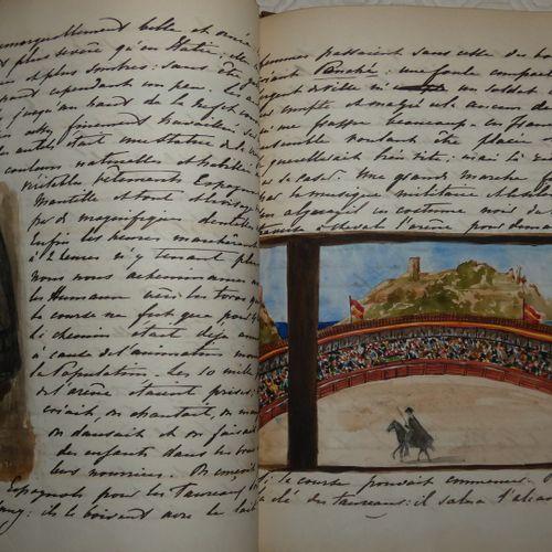 Manuscrit / DELESSERT (Cécile, comtesse de Nadaillac). Travel stories in the Fre…