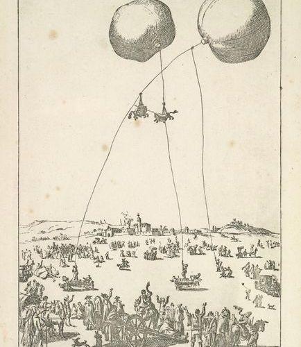 CARNICERO (Isidro). Fiesta de toros en el aire [Madrid?], unpublished, 1784 Etch…